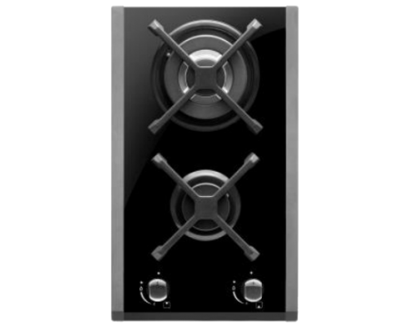 30cm black glass gas cooktop TGWF30G
